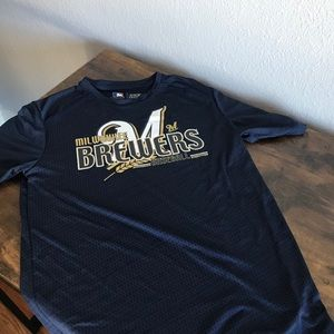 Mens MLB Milwaukee Brewers Short Sleeve Tee